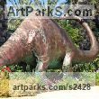 Sculpture Animals in General sculpture sculpture by sculptor Meir Cohen titled: 'dinosaur sculpture from copper'