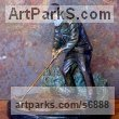 Bronze Human Figurative sculpture by Michael J Mawdsley titled: 'St. Andrews (Golfer Tom Morris statue figurine)'