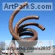 Mild steel Abstract Contemporary or Modern Outdoor Outside Exterior Garden / Yard Sculptures Statues statuary sculpture by artist Mike Hansel titled: 'Affiliation (Large BigContemporary abstract Steel sculptures statues)' - Artwork View 1