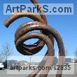 Mild steel Abstract Contemporary or Modern Outdoor Outside Exterior Garden / Yard Sculptures Statues statuary sculpture by artist Mike Hansel titled: 'Affiliation (Large BigContemporary abstract Steel sculptures statues)' - Artwork View 2