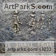 Cold cast bronze Public Art sculpture by sculptor Mitchell House titled: '1940 Beach. (Bronze bas relief of WWII soldiers)'