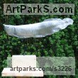 Cold cast,aluminium,bronze,marble Aquatic Sculptures Fish / Shells / Sharks / Seals / Corals / Seaweed sculpture by sculptor Mitchell House titled: 'Arowana Fish (Living Fossil Fish Swimming life size bronze sculpture)'