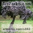Iron or iron/bronze Tree Plant Shrub Bonsai sculpture statuette sculpture by sculptor Mitchell House titled: 'Olive Tree (Bonsai Miniature Small sculpturette statue)'