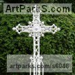 Bronze,Iron, Aluminium Commemoratives and Memorials sculpture by sculptor Mitchell House titled: 'Ornate Gothic Cross/grave marker'