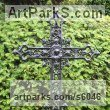 Bronze,Iron, Aluminium Commission and Custom and Bespoke sculpture sculpture by sculptor Mitchell House titled: 'Ornate Gothic Cross (Grave marker Grave `Stone` statue)' - Artwork View 2