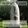 Marble carving Abstract Contemporary or Modern Large Public Art sculpture Statues statuary sculpture by Nando Alvarez titled: 'Rain (Carved Stone abstract Loop Arch Yard statues)'