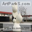 Painted stainless steel Abstract Modern Contemporary Avant Garde sculpture statuettes figurines statuary both Indoor Or outside sculpture by sculptor Nando Alvarez titled: 'Bubbles'