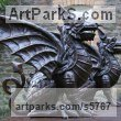 Bronze Mythical sculpture by sculptor Naomi Bunker titled: 'Dragons (Welsh Winged Grifon Gateposts sculptures)'