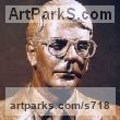 Bronze Portrait Sculptures / Commission or Bespoke or Customised sculpture by sculptor Neale Andrew titled: 'Sir John Major, Prime Minister (Bronze Bust sculpture)' - Artwork View 1
