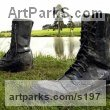 Mild Steel Garden Or Yard / Outside and Outdoor sculpture by sculptor Nick Lloyd titled: 'Iron Mans Boots II' - Artwork View 1