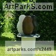 Cold Cast Bronze, Iron, Marble Minimalist Understated Abstract Contemporary Sculpture statuary statuettes sculpture by Nicola Beattie titled: 'Sisterhood (Contemporary 3 Nuns garden Yard statue)'