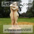 Beech wood Carved Wood sculpture by sculptor Nigel Sardeson titled: 'Embrace (Carved life size nude Lovers sculptures/statue/carving)'