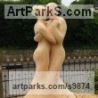 Wood, Lime/linden Garden Or Yard / Outside and Outdoor sculpture by sculptor Nigel Sardeson titled: 'Tango (Dancing Couple Carved Tree Wooden sculpture)' - Artwork View 1