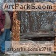 Walnut wood Carved Wood sculpture by NIKOLAY NIKOLOV titled: 'Mirror-3'