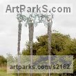 "bronze Human Form: Abstract sculpture by P�draic Reaney titled: ""Bird-Watchers"""
