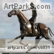 Steel Horses Small, for Indoors and Inside Display sculpturettes Sculptures figurines commissions commemoratives sculpture by sculptor Patrice Mesnier titled: 'Jockey de trot (Steel Trotting Equestrian/Horse statues/sculptures)'