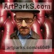 Bronze resin Pop Art sculpture by Paul Fay titled: 'Heisenberg Breaking Bad bust (Bronze resin Coloured head sculpture)'