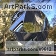 Stainless Steel Stainless Steel Abstract Contemporary Modern sculpture by Paul Wesson titled: 'Unknown structure NO.2'