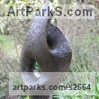 Bronze resin Garden Or Yard / Outside and Outdoor sculpture by sculptor Paz Perlman titled: 'Helix (Modern abstract Focal Point garden Yard statue)' - Artwork View 1