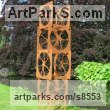 Corten Steel Abstract Contemporary or Modern Outdoor Outside Exterior Garden / Yard Sculptures Statues statuary sculpture by Pete Moorhouse titled: 'Soma (abstract Steel Round SquareTall sculpture statue)'