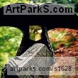 Bronze Abstract Contemporary Modern Outdoor Outside Garden / Yard sculpture statuary sculpture by sculptor Philip Jackson titled: 'The Don (Philip Jackson Venitian Masked Man statue)' - Artwork View 1