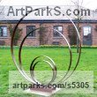 Steel Repetitive Form / Shape Abstract Sculptures / Statues sculpture by Philip Melling titled: 'Loop III (Concentric Circle Metal sculptures abstract garden/Yard statue)'