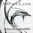 Steel Mythical sculpture by sculptor Philip Melling titled: 'Phoenix (SOLD, but available to commission)'