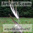"Steel Abstract Modern Contemporary Avant Garde sculpture statue statuettes figurines statuary both Indoor Or outside by Philip Melling titled: ""Pyre V (abstract Steel Modern garden sculpture)"""