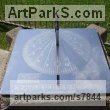 Stainless Steel Sundials sculpture by Piers Nicholson titled: 'Sundial in playground of public park High Wyombe'
