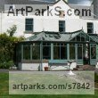 Stainless Steel Garden Or Yard / Outside and Outdoor sculpture by sculptor Piers Nicholson titled: 'Sundial outside a Scottish Baronial Mansion' - Artwork View 1