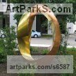 Bronze Abstract Contemporary Modern Outdoor Outside Garden / Yard sculpture statuary sculpture by sculptor Plamen Yordanov titled: 'Bronze Mobius (Big Outdoor/Public Urban Park statue)' - Artwork View 1