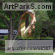 Bronze Abstract Contemporary Modern Outdoor Outside Garden / Yard sculpture statuary sculpture by sculptor Plamen Yordanov titled: 'Bronze Mobius (Big Outdoor/Public Urban Park statue)' - Artwork View 2
