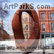 Corten steel Abstract Contemporary or Modern Outdoor Outside Exterior Garden / Yard sculpture statuary sculpture by sculptor Plamen Yordanov titled: 'Double Mobius Strip (brown Massive Steel Contemporary abstract statue)' - Artwork View 1