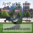 Stainless steel Abstract Contemporary or Modern Large Public Art sculpture statuary sculpture by sculptor Plamen Yordanov titled: 'Double Mobius Strip (Large stainless Steel statue)'