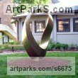 Bronze Abstract Contemporary or Modern Outdoor Outside Exterior Garden / Yard sculpture statuary sculpture by sculptor Plamen Yordanov titled: 'INFINITY Commission (Big bronze Double Mobius Strip Outdoor statue)' - Artwork View 3
