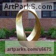 Bronze Abstract Contemporary or Modern Outdoor Outside Exterior Garden / Yard sculpture statuary sculpture by sculptor Plamen Yordanov titled: 'INFINITY Commission (Big bronze Double Mobius Strip Outdoor statue)' - Artwork View 4