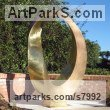 Bronze Abstract Contemporary or Modern Outdoor Outside Exterior Garden / Yard sculpture statuary sculpture by sculptor Plamen Yordanov titled: 'Infinity (Big/Large Outdoor Urban Park sculpture)'