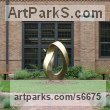 Bronze Abstract Contemporary or Modern Outdoor Outside Exterior Garden / Yard sculpture statuary sculpture by sculptor Plamen Yordanov titled: 'INFINITY Commission (Big bronze Double Mobius Strip Outdoor statue)' - Artwork View 2