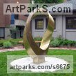 Bronze Abstract Contemporary or Modern Outdoor Outside Exterior Garden / Yard sculpture statuary sculpture by sculptor Plamen Yordanov titled: 'INFINITY Commission (Big bronze Double Mobius Strip Outdoor statue)' - Artwork View 5