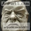 Resin Composite Famous People Sculptures Statues sculpture by Richard Austin titled: 'Bust of John Prescott (Satyrical Caricature sculpture)'