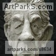 Resin Composite Grotesque Sculptures / Statues / figurines to order Commission Custom Bespoke sculpture by Richard Austin titled: 'Bust of Sir Ian McKellen (Caricature Portrait statue)'