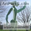Resin Composite Abstract Contemporary or Modern Large Public Art sculpture Statues statuary sculpture by Richard Austin titled: 'Celebration (Large Contemporary abstract Man statue)'