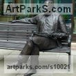 Resin composite Busts and Heads Sculptures Statues statuettes Commissions Bespoke Custom Portrait Memorial Commemorative sculpture or statue sculpture by Richard Austin titled: 'Sir Malcolm Arnold (Man Seated on Park Bench statue)'