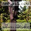 Black resin Abstract Contemporary or Modern Outdoor Outside Exterior Garden / Yard sculpture statuary sculpture by sculptor Richard Fenton titled: 'Transformation II (Modern bronze Contemporary Tall abstract sculpture)'