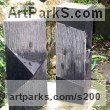 Granite Abstract Modern Contemporary sculpture statuettes figurines statuary sculpture by sculptor Rob J Maingay titled: 'Positive-Negative (Small Carved Rectangular garden/Yard statues)'