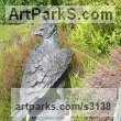 Bronze Garden Or Yard / Outside and Outdoor sculpture by sculptor Rosie Sturgis titled: 'Crowned Eagle (Bronze Bird of Prey sculpture)' - Artwork View 2