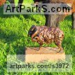 Bronze Farm Yard sculpture by sculptor Rosie Sturgis titled: 'Ram (Small Bronze Horned Male Sheep sculpturette)' - Artwork View 2
