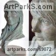 Bronze Busts and Heads Sculptures Statues statuettes Commissions Bespoke Custom Portrait Memorial Commemorative sculpture or statue sculpture by Scott Shore titled: 'Portrait (Bronze Girl`s Head Bust Commission sculpture)'