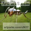 Stainless Steel Garden Bird and Animal sculpture by Sebastian Novaky titled: 'Bioregulation 1 (stainless steel Big Ant statue)'