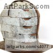 Brick Focal Point Abstract Contemporary Modern sculpture sculpture by sculptor Shivashtie Poonwassie titled: 'Perspective III (Big Outsize Bust/Head garden Yard sculpture)' - Artwork View 5